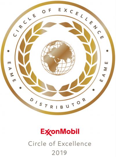 Ocenění Circle og Excellence pro Maier & Korduletsch Maziva za výkon v roce 2019.