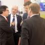 Zleva: Albert Babiuch, ExxonMobil Polsko; Petr Boukal, ředitel prodeje Maier & Korduletsch Maziva; Johann Berger, jednatel společnosti Maier & Korduletsch Maziva; Roman Ormanczyk, ExxonMobil Polsko; foto: Richard Hodonický